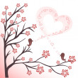 Love birds - Stock Vector