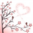 Love birds - Stockvectorbeeld