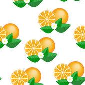 Orange seamless pattern — Vector de stock