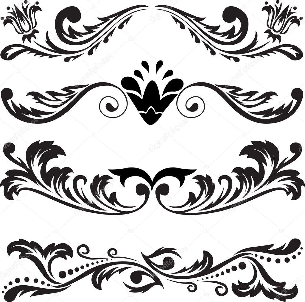 Scroll Line Clip Art