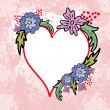 Royalty-Free Stock Vector Image: Heart with flowers