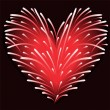 Stock Vector: Fireworks from the heart