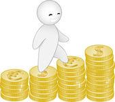 L'homme et l'argent — Vecteur