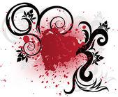 Corazón rojo del spray — Vector de stock