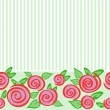 Horizontal seamless ornament with roses - Stock Vector
