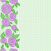 Vertical border with roses — Vettoriale Stock