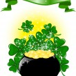 Royalty-Free Stock Vector Image: Pot of gold and a ribbon