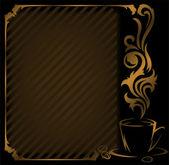 Diagonal coffee Frame — Stock Vector