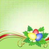 Easter eggs on a checkered background — Stock vektor