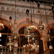 Fragment of interior of Holy Sepulchre Church — Stock Photo