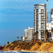 Sea coast and the view on Bat-Yam — Stock Photo