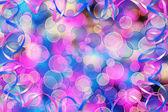 Cartão no fundo abstrato multicolorido com bokeh borrão para — Foto Stock