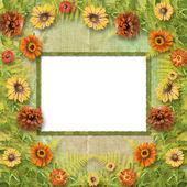 Mångfärgad kort för hälsningar eller inbjudningar med massa fl — Stockfoto