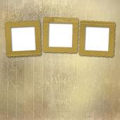 抽象的な紙の背景に古いグランジ フレーム — ストック写真