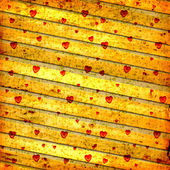 Old paper in grunge style. Abstract background with hearts — Stockfoto