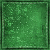 Grunge green abstract paper design in scrapbooking style — Stock Photo