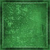 在剪贴风格 grunge 绿色抽象纸设计 — 图库照片