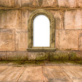 The old stone room with window in Victorian style — Stock Photo