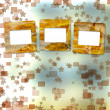 Photo: Old grunge frames on blur boke background