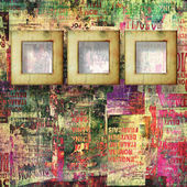 Paper frames with old torn posters on the grunge abstract backgr — Stock Photo