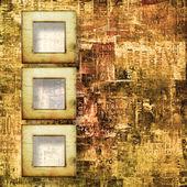 Cadres de papier à l'ancienne déchiré des affiches sur l'arr.plans abstract grunge — Photo