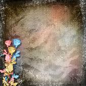 Rose di carta sullo sfondo astratto astratto — Foto Stock