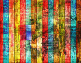 Grunge abstract background with old torn posters — Stock Photo