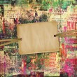 Grunge abstract background with old torn posters — Stok fotoğraf