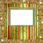 Grunge bricks for invitation on the vintage abstract background — Stock Photo