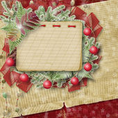 Abstract star background with notebook and bunch of twigs Christ — Stock Photo