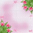 Card for invitation or congratulation with pink lilies — Stock Photo #5200620