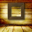 Old room, grunge  interior with frames in style baroque — Stockfoto