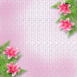 Stock Photo: Card for invitation or congratulation with pink lilies