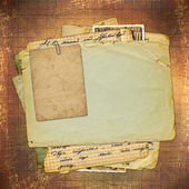 Abstract ancient brown background in scrapbooking style — Stock Photo