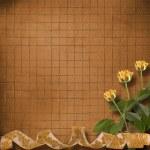 grunge paper für gratulation mit schönen rosen — Stockfoto