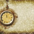 Antique clock face with lace on the abstract background — Stock Photo