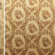 Seamless vintage background Pattern brown — Stok Vektör
