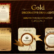 Royalty-Free Stock ベクターイメージ: Gold vitnage label decorative ornament