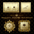 Glamour vintage gold frame decorative — Stock Vector