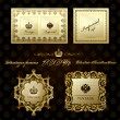 Glamour vintage gold frame decorative — Image vectorielle