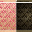Seamless decor vintage wallpaper background — Stock Vector