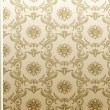 Seamless flower wallpaper Pattern beige — 图库矢量图片