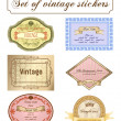 Vector vintage set. Romantic frames ornate label — Stok Vektör