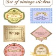 Vector vintage set. Romantic frames ornate label — Stok Vektör #3978593