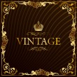 Royalty-Free Stock Vector Image: Vintage gold frame decorative background