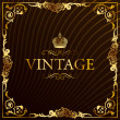 Vintage gold frame decorative background — Stock Vector