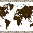 Stock Vector: Vintage map of the world