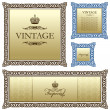 Vintage vector frame decor ornament — Stock Vector