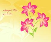 Fondo floral flores fondo — Vector de stock