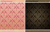 Seamless decor vintage wallpaper background — Stock Vector